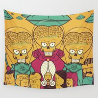 mars Wall Tapestries featuring Mars Attacks! by Ale Giorgini