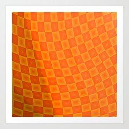 Pattern by squares 5 Art Print