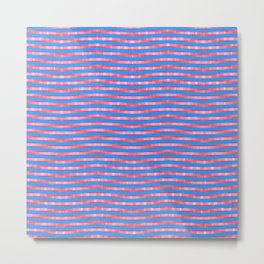 Waving Fuzzy Pink and Blue Pattern Metal Print