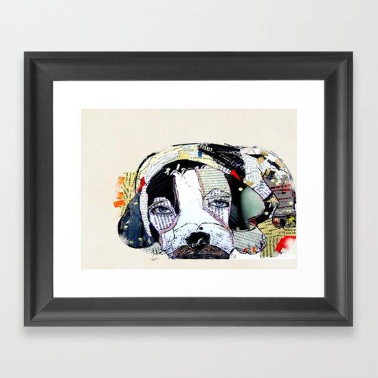 beagle dog Framed Art Print