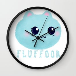 Introducing Fluffoon The Cutest Fluff In The World Wall Clock