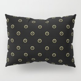 """Fate"" Chinese Calligraphy on Golden Coins Pillow Sham"