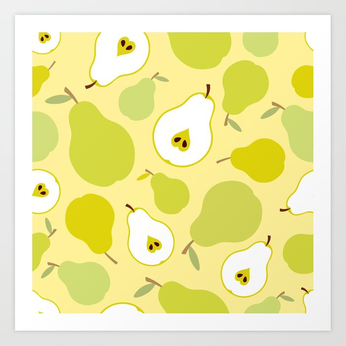Honey pears  Art Print
