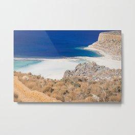 balos beach in Crete Metal Print