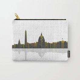 Washington DC Skyline BW 1 Carry-All Pouch