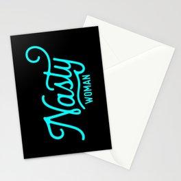 Nasty Woman (neon aqua) Stationery Cards