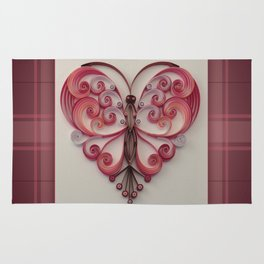 Quilling Heart 5 Rug