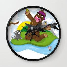 Bigfoot Rocks! Wall Clock