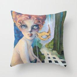The Masquerade, Lucia Throw Pillow