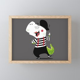 T-Rex Mime Framed Mini Art Print