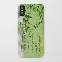 jane austen iPhone & iPod Cases featuring Jane Austen Refreshment by KimberosePhotography