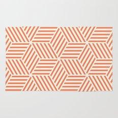 Geometric Coral Rug