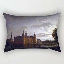 Johan Christian Claussen Dahl Frederiksborg Castle Rectangular Pillow