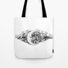 Live by the Sun, Love by the Moon Tote Bag