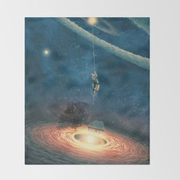 My dream house is in another galaxy Throw Blanket