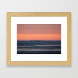Sydney sunrise on a foggy winter morning Framed Art Print
