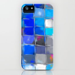 Mosaic / Abstract Art ' BLue SKieS ' BY SHiRLeY MacARTHuR iPhone Case
