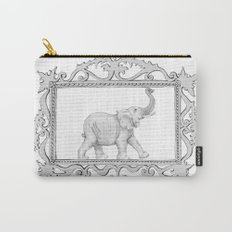 grey frame with elephant Carry-All Pouch