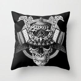 Samurai Skull Throw Pillow