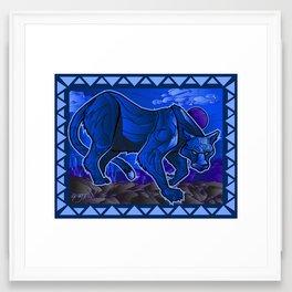 Cougar Blue! Framed Art Print