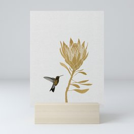 Hummingbird & Flower I Mini Art Print