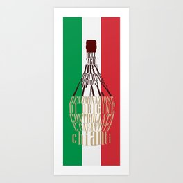 Typographical Bell'agio Art Print