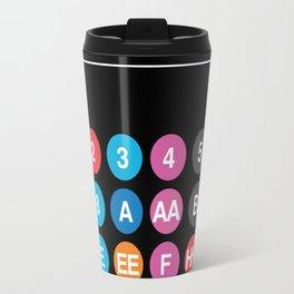 Hevletica and the NYC Subway Travel Mug