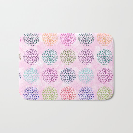 colorful geometric Bath Mat