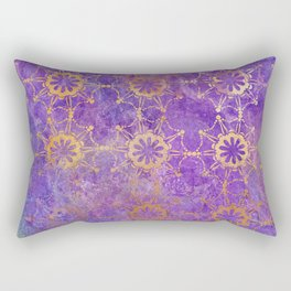 Pop Painted Pattern:  Purple and gold watercolor abstract ornament Rectangular Pillow