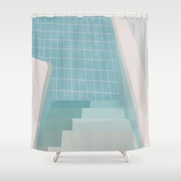 Swimming Pool Summer Shower Curtain