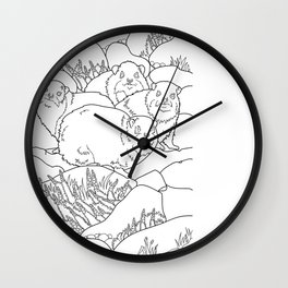 Israeli Nature Wall Clock
