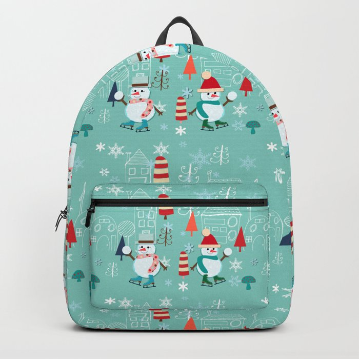 winter fun blue Backpack