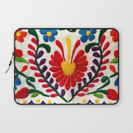 Red Mexican Flower Laptop Sleeve