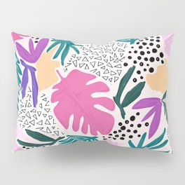 Tropical Colourful Collage Pattern Pillow Sham