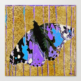Butterfly Vison in Blue and Purple Canvas Print