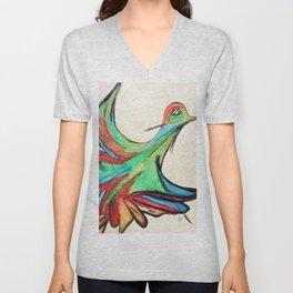 Aquarela bird Unisex V-Neck