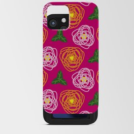 Bright pink floral iPhone Card Case