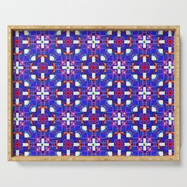 Cobalt Intersect Serving Tray