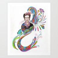 Frida Phoenix Rising Art Print
