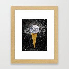MOON ICE CREAM Framed Art Print