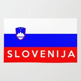 slovenia country flag Slovenija name text Rug
