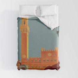 Tuscany - Siena Italy - Vintage Travel Duvet Cover