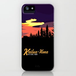 Kailua Kona Hawaii Sunset  iPhone Case
