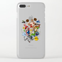 nintendo bunch Clear iPhone Case
