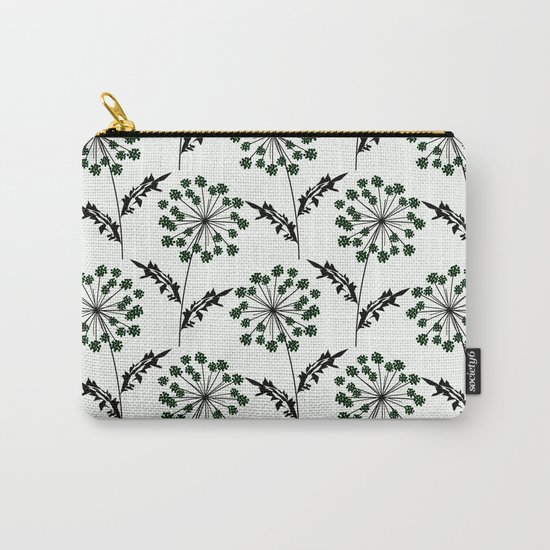 Delicate flowers on a black background. Carry-All Pouch