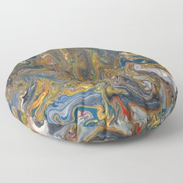 Abstract Oil Painting 23 Floor Pillow