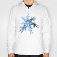 snowflake Hoodies featuring Snowflake by MG-Studio