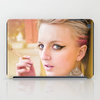 cigarette iPad Cases featuring Cigarette Girl by Marcus Meisler