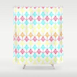 Neon diamonds pattern Shower Curtain