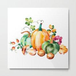 Autumn harvest bouquet Metal Print